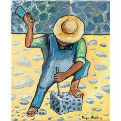 Attr. DIEGO RIVERA Mexican 1886-1957 OOC Peasant