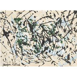American Artist Signed Jackson Pollock Ink/Paper