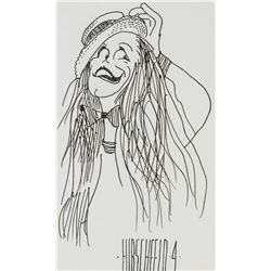 Manner of ALBERT HIRSCHFELD US 1903-2003 Ink on Paper