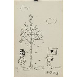 Attr. CHARLES SCHULZ American 1922-2000 Ink/Paper