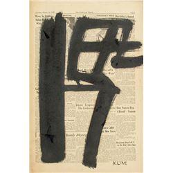 Attr. FRANZ KLINE American 1910-1962 Ink on Paper
