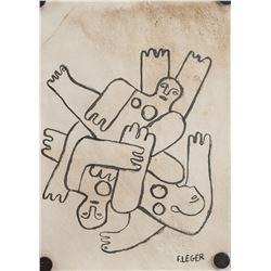 Attr. FERNAND LEGER French 1881-1955 Marker/Paper