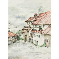 DORI LEISINGER Canadian 1925-2011 Watercolor