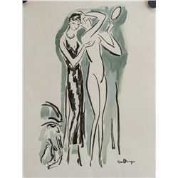 Attr. KEES VAN DONGEN French 1877-1968 WC on Paper