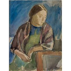 Attr. MEIER AKSELROD Russian 1902-1970 Watercolor
