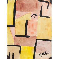 Attr. PAUL KLEE Swiss 1879-1940 Watercolor Paper