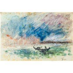 Attr. JMW TURNER British 1775-1851 Watercolor