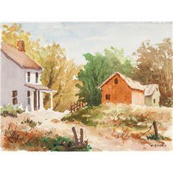EDWARD GARBELY American 1908-1999 Watercolor