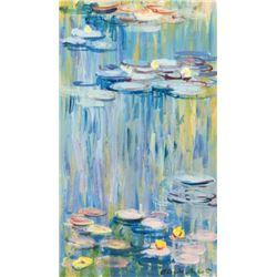 French Impressionist Signed Claude Monet Tempera
