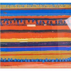 Attr. WOBBE ALKEMA Dutch 1900-1984 Gouache/Paper