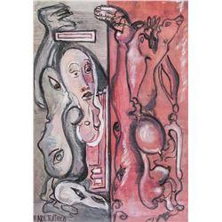American Artist Signed Mark Rothko Gouache/Paper