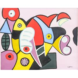 Manner of ARSHILE GORKY American 1904-1948 Acrylic
