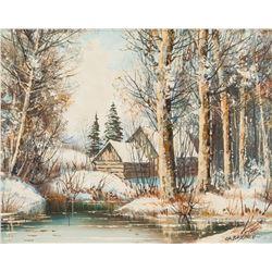 Signed C. H. BAJEAUX Canadian Oil on Canvas