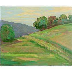 Attr. JUAN GUZMAN Chilean b. 1948 OOB Landscape