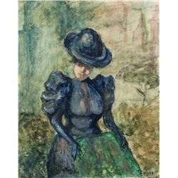 French Artist Signed Oil on Canvas Edgar Degas