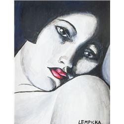 Attr. TAMARA DE LEMPICKA Polish 1898-1980 Oil