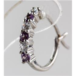 Sterling Silver Alexandrite Earrings RV $100