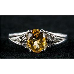 Sterling Silver Citrine Ring RV $200