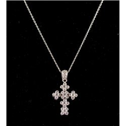 750 Gold Diamond Cross Necklace