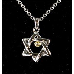 Star of David Diamond Necklace RV $100