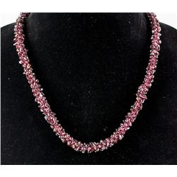 Beaded Garnet Necklace