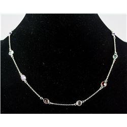 Sterling Silver Multi-gem Necklace RV $300