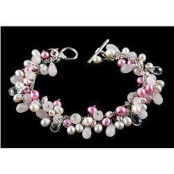 Pearl & Pink Colored bead bracelet RV $100