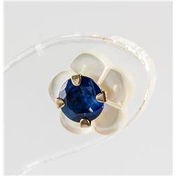 0.66ct Sapphire & Pearl Earrings RV $160