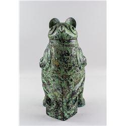 Chinese Archaistic Bronze Cast Owl Zun Vessel