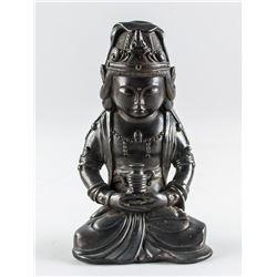 Chinese Bronze Cast Bodhisattva Statue