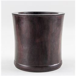 Chinese Zitan Wood Carved Brush Pot