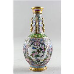 Chinese Famille Rose Gilt Porcelain Vase Yongzheng