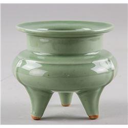 Chinese Celadon Porcelain Tripod Censer