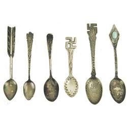 6 Navajo Silver Spoons