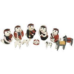 Cochiti Pottery Nativity - Vangle Sunia
