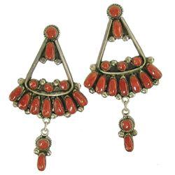 Zuni Earrings - Bill and Lou Laweka