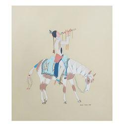 "Leonard ""Black Moon"" Riddles, Comanche (1919-2003)"
