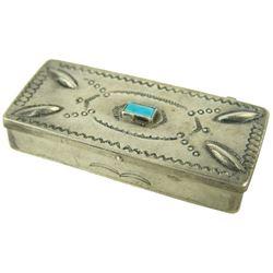 Navajo Silver Pill Box