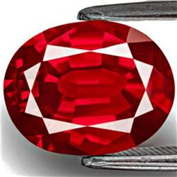 Natural Pigeon Blood Red / Vivid Red Ruby 2.06 Ct