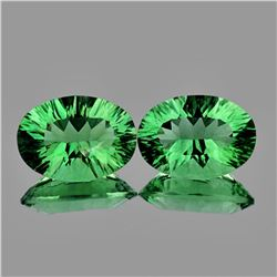 Natural Paraiba Green Fluorite Natural Pair 14x10 MM