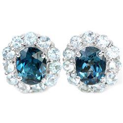 Natural AAA LONDON & SKY BLUE TOPAZ Earrings