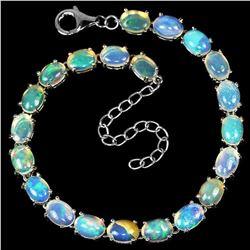 NATURAL RAINBOW WHITE OPAL Bracelet