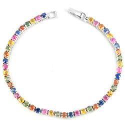 Natural MULTI COLOR SAPPHIRE Bracelet