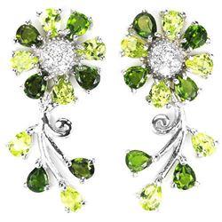 NATURAL GREEN CHROME DIOPSIDE PERIDOT Earrings