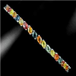 Natural Fancy Marquise Multi Color Sapphire Bracelet