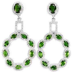 NATURAL AAA GREEN CHROME DIOPSIDE Earrings