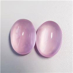 Natural Pastel Pink Rose Quartz Pair 34.60 CT Flawless