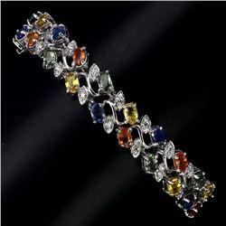 Natural Fancy Sapphire 116 Carats Bracelet