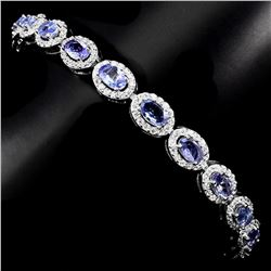 Natural Blue Violet Tanzanite 52.69 Cts Bracelet