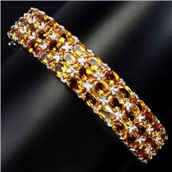 Natural Top Rich Yellow Citrine 152.66 Ct Bangle